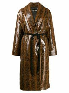 Ienki Ienki oversized robe coat - Brown