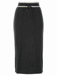 Lorena Antoniazzi knitted straight skirt - Grey