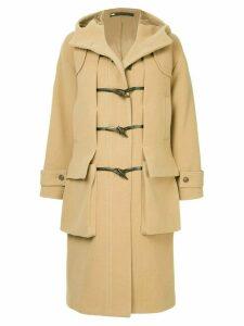 Muller Of Yoshiokubo duffle fitted midi coat - Brown
