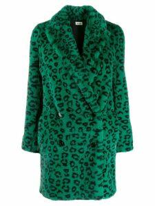 Zadig & Voltaire Motty leopard print coat - Green