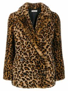 Zadig & Voltaire Mottys leopard print coat - NEUTRALS
