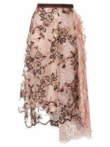 Antonio Marras floral lace midi skirt - Pink