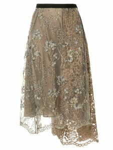 Antonio Marras embellished lace midi skirt - Green