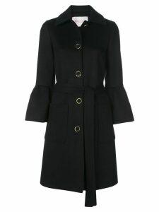 Carolina Herrera flared-sleeve belted coat - Black