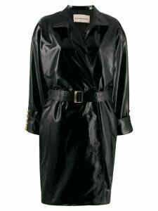 Alexandre Vauthier patent trench coat - Black