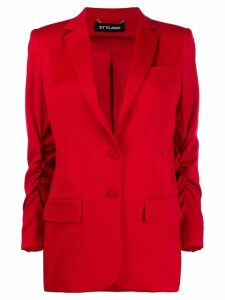 Styland ruched sleeve blazer - Red