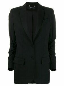 Styland ruched sleeve blazer - Black