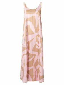 Lee Mathews scoop neck dress - PINK