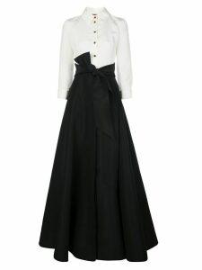 Carolina Herrera tie-waist maxi shirt-dress - Black