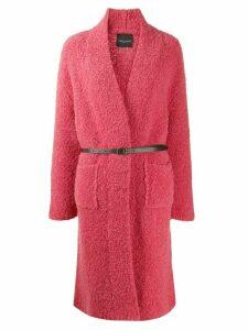 Roberto Collina textured belted coat - Pink