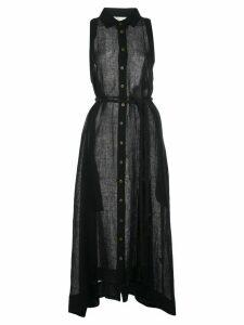 Lisa Marie Fernandez sleeveless sheer beach dress - Black