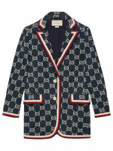 Gucci GG Supreme knitted blazer - Blue