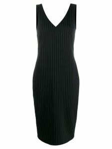 Styland pinstripe midi dress - Black