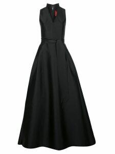 Carolina Herrera standing-collar full-skirt gown - Black