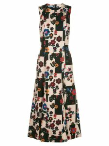 Jonathan Cohen abstract floral pattern dress - Black