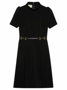 Gucci horsebit belt dress - Black