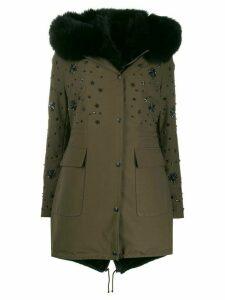 Philipp Plein hooded parka coat - Green