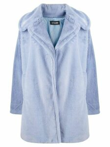 Styland oversized faux fur coat - Blue