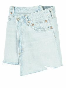 AGOLDE asymmetric mini skirt - Blue
