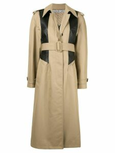 Alexander Wang textured panel trench coat - Brown