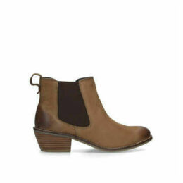 Carvela Comfort Rink - Tan Western Style Ankle Boots