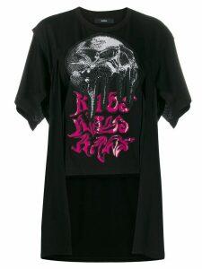 Diesel Kaos layered style T-shirt - Black