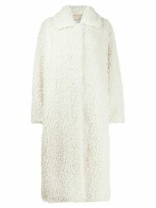 STAND STUDIO Leah single-breasted coat - White