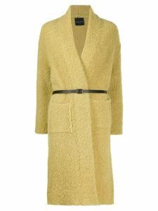 Roberto Collina belted cardi-coat - Yellow