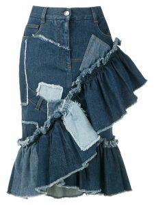 Dolce & Gabbana patchwork denim skirt - Blue