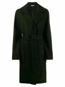 LIU JO tie waist knee-length coat - Black