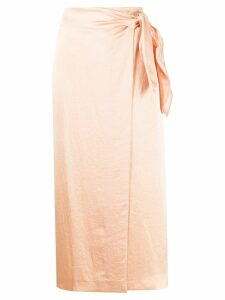 Nanushka tie fastened wrap skirt - NEUTRALS