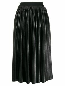 LIU JO faux leather pleated skirt - Black