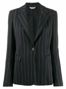 LIU JO pinstripe single breasted blazer - Black