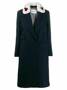 Ava Adore statement collar coat - Blue