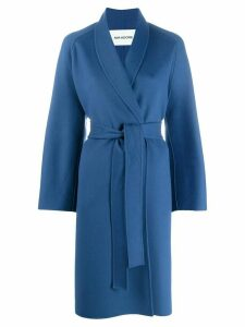 Ava Adore wrap front coat - Blue