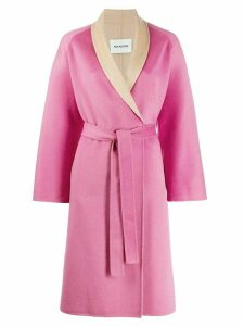 Ava Adore wrap front coat - PINK
