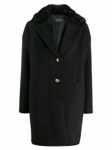 Trussardi Jeans boxy fit button down coat - Black