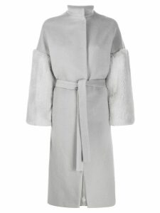 Ava Adore textured single breasted coat - Grey