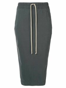Rick Owens DRKSHDW drawstring pencil skirt - Grey