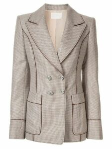 Peter Pilotto slim fit lurex blazer - Brown