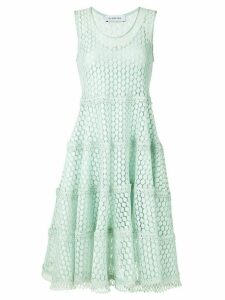 Olympiah Lamier lace flare dress - Green