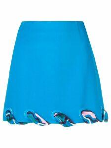 Emilio Pucci ribbon eyelet trim skirt - Blue
