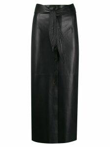 Nanushka high waisted belted skirt - Black