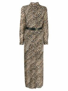 Michael Kors Collection animal print shirt dress - Brown