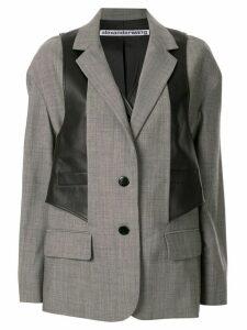 Alexander Wang waistcoat layered blazer - Grey