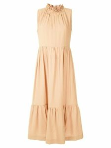 Olympiah Laurier gathered dress - NEUTRALS