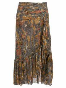 Ulla Johnson printed Ailie skirt - Brown