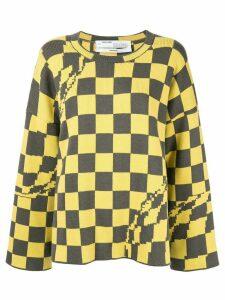 Off-White check print sweatshirt - Yellow