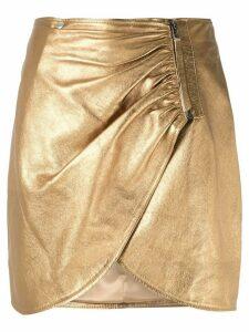 Olympiah Sauge metallic drape skirt - GOLD