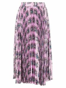 La Doublej Demeter Goddess pleated midi skirt - PINK